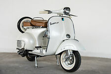 STUNNING VINTAGE VESPA SCOOTER #776 RETRO MODS CANVAS PICTURE WALL ART A1
