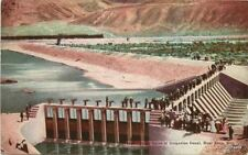 C-1910 Head Gates Irrigation Canal Reno Nevada Postcard 11150