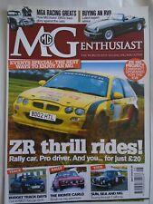 MG Enthusiast May 2009 MGA, RV8 buying, ZR