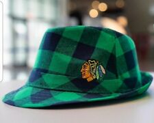 Chicago Blackhawks ST PATRICK'S DAY Fedora Hat New One size fits most FAST SHIP