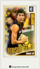2006 Herald Sun AFL Trading Cards Risingstar Nominee Card RSN18 Kade Simpson