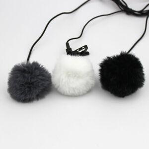 Lapel Mic Furry Windscreen Windshield Wind Muff Soft  For Lapel Microphones BOD