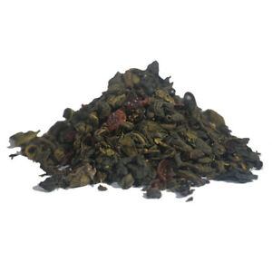 Pomegranate and Hibiscus Green Tea - Luxury Loose Leaf Weightloss Tea - 40g-60g