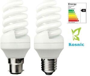 Kosnic Regular Spiral Quick Start Energy Saving CFL Compact Fluorescent Bulbs
