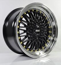 4pcs BBS RS 17 inch Rim Wheel 4X100/4X114.3 Alloy wheels Cheap rims Car 356-3