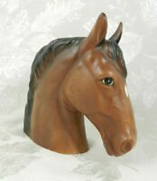 "Vintage Lefton Horse Head Planter Vase Brown Ceramic 6.5"" H H1953 Japan"