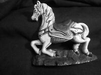CAST IRON DOOR STOP  COLLECTIBLE  CAROUSEL HORSE -AWESOME-Hurley?   NO MARKINGS