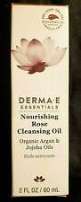 DERMA-E-ESSENTIALS-NOURISHING ROSE CLEANSING OIL-ARGAN&JOJOBA OILS..2floz..10/21