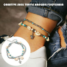 Beaded Beach Anklet Bracelet Jewerly Bohomia Ankle Silver Tone Womens Turtle