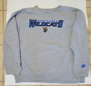 Vintage Starter UK Kentucky Wildcats NCAA Men's XL Sweatshirt grey blue letter