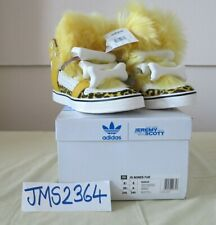 ADIDAS ORIGINALS JEREMY SCOTT BONES FUR YELLOW WHITE   6.5US  6UK  39.1/3F  245J