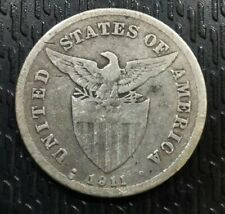 US - PHILIPPINES: 1911 S 20 CENTAVOS
