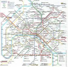 Lot de 2 Serviettes en papier Paris Plan de Métro Decoupage Collage Decopatch