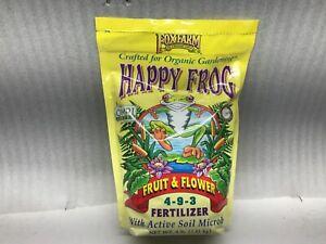 Fox Farm Happy Frog Fruit and Flower 4-9-3 Fertilizer 4lb Bag
