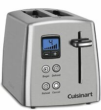 Cuisinart CPT-415 Countdown 2-Slice Stainless Steel Toaster Manuf Refurbished