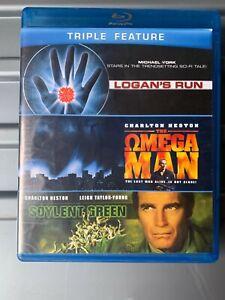 THE OMEGA MAN / SOYLENT GREEN / LOGAN'S RUN, BLU-RAY 3 DISC SET