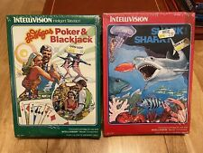 New and Sealed Poker & Blackjack and Shark! Shark! Intellivision Games