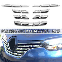 7pcs Car Chrome ABS Front Grille Cover Trim Molding for Renault Kadjar 2015 - 17