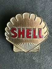 SHELL PETROL OIL ENAMEL CAP BADGE