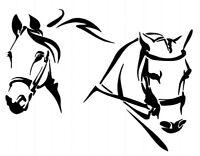 STENCILS CRAFTS TEMPLATES SCRAPBOOKING HORSE HEADS STENCIL - 186 A4 MYLAR
