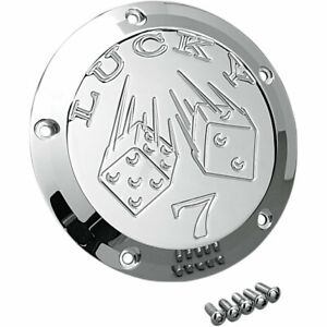 Joker Machine Chrome Lucky 7 Derby Cover for 1999-2017 Harley Twin Cams
