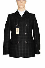 Collared Hip Length Wool Blazers for Men