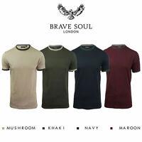 Brave Soul Tallon Mens T Shirt Short Sleeve Crew Neck Casual Top