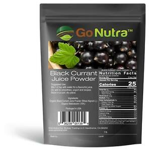 Black Currant Juice Powder | Ribes Nigrum 1lb | Go Nutra