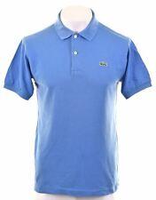 LACOSTE Mens Polo Shirt Size 4 Small Blue Cotton  FD14