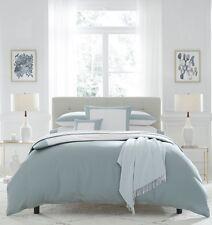 Sferra Casida King Duvet Cover - White/Delft Blue