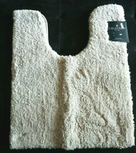 Fieldcrest Spa Collection Contour Rug Beige Linen Bathroom Floor Toilet Mat NWT