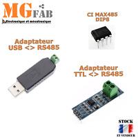 Module RS485 MAX485 adaptateur USB Convertisseur TTL   MAX485CSA Arduino ARM RPI