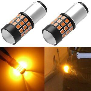 Alla Lighting 1157 33-LED Yellow Turn Signal Light Bulb|Parking|Side Marker Lamp