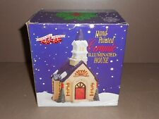 Liberty Bell Christmas Ceramic Illuminated Church - Village House