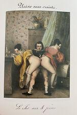 Akt Sex Vagina Penis Erotik Adultery Affäre Nude Grafik Kunst Lithography Art