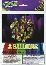 "Teenage Mutant Ninja Turtles Birthday Balloons 12"" -  8 Pack, 4 colors"