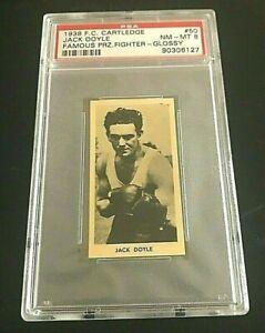 1938 F. C. CARTLEDGE JACK DOYLE  #50  FAMOUS PRIZE FIGHTER - GLOSSY PSA 8