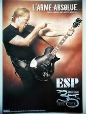 PUBLICITE-ADVERTISING :  Guitare ESP Signature James Hetfield  02/2011 Metallica