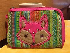 MUDD Angie Collection Zip-Around Wristlet Wallet PINK FOX - New!