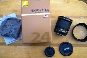 Nikon Nikkor AF-S 24mm f/1.8 G ED Lens - Boxed COMPLETE