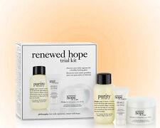 Philosophy Renewed Hope Trial Kit-3 Pieces-Cleanser,Moisturizer & Eye Cream NIB