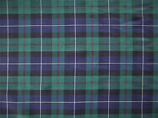 Navy & Green Check Tartan Plaid Fabric Material Cotton 1.5m REMNANT