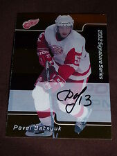 01-02 BAP Signature Series Pavel Datsyuk * GOLD * Autograph ROOKIE Auto RC RARE