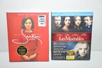 Les Miserables Blu-ray DVD and Jackie Blu-ray DVD Lot of 2 Movies