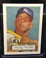 Mickey Mantle Career Highlights 90s REPRINT 1952 Rookie Card HOF Excellent
