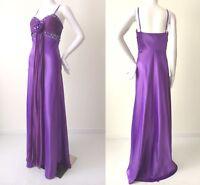 JUNIK AUSTRALIA - NEW - rrp $690.00 Satin Dress Evening Gown & Wrap Size 8  US 4