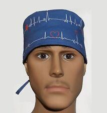 EKG ECG SURGICAL SCRUB HAT THEATRE CAP ANATOMY