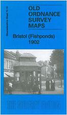 OLD ORDNANCE SURVEY MAP BRISTOL FISHPONDS 1902