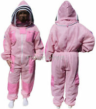 Three layer ultra ventilated pink beekeeping suit professional bee suit