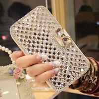 Luxury Bling Crystal Diamond Wallet Flip Case Cover For Samsung S8 Plus S7 S001